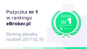 Pożyczka nr 1 w rankingu eBroker.pl